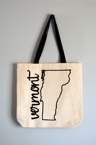 Vermont Name Tote Bag