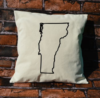 Vermont outline pillow