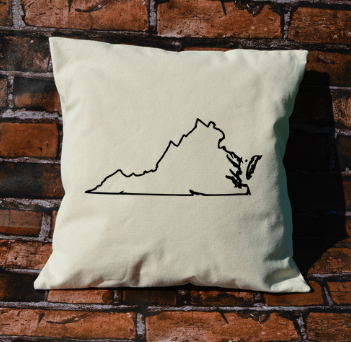 Virginia outline pillow
