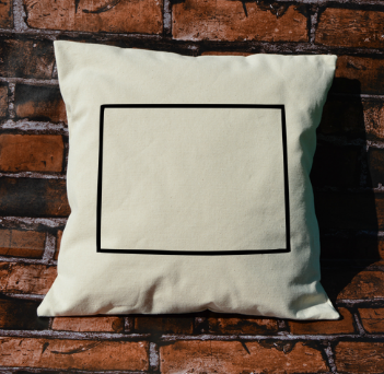 Wyoming outline pillow