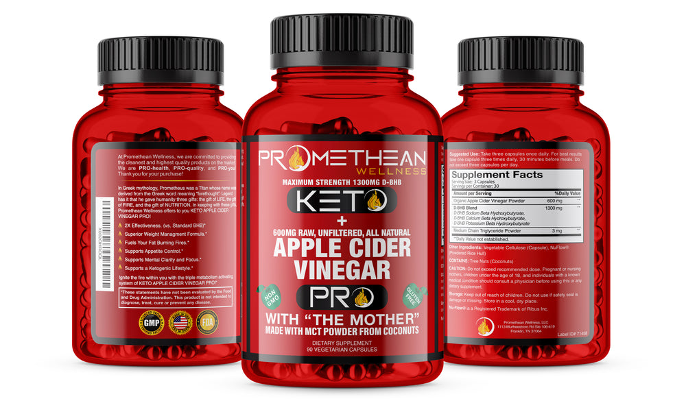 (6 Bottles - 90ct Capsules) Burn Fat For Fuel! Acv Pro Keto Pills Apple Cider Vinegar Capsules + Mct Oil Powder Diet Pills Energy Supplements (90 ct.)