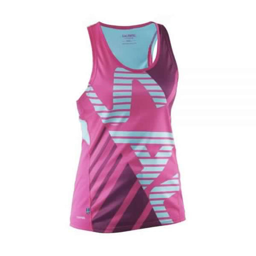 Salming Run Race Singlet Women Pink Glo/Turquoise