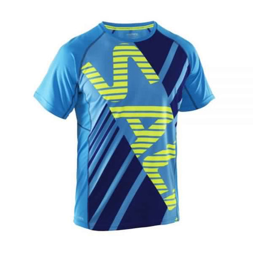 Salming Running Tee Men Cyan Navy