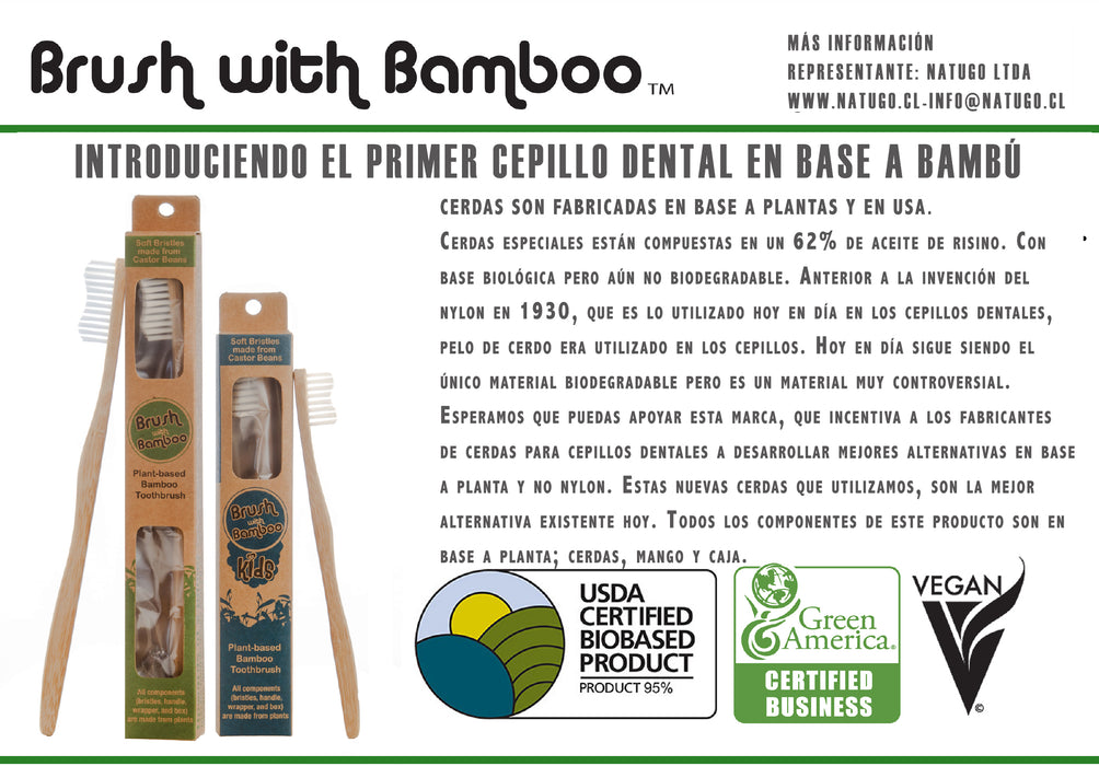 Cepillo Dental Ecológico Niño Brush With Bamboo