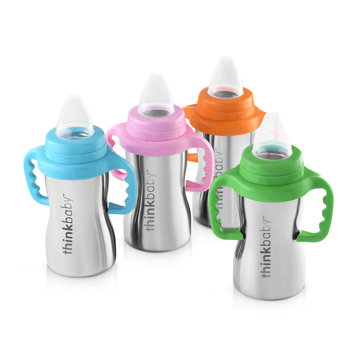 Sippy of Steel Azul ThinkBaby