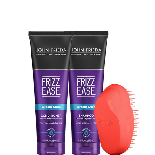 Pack Shampoo y Acondicionador John Frieda más Tangle Teezer mini