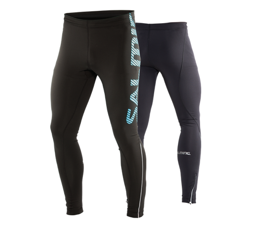 Salming Running Tights Men Black/Cyan
