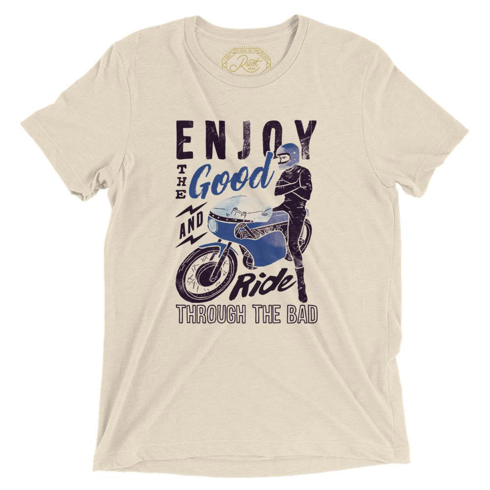 Enjoy The Good T-Shirt In VIntage Oatmeal