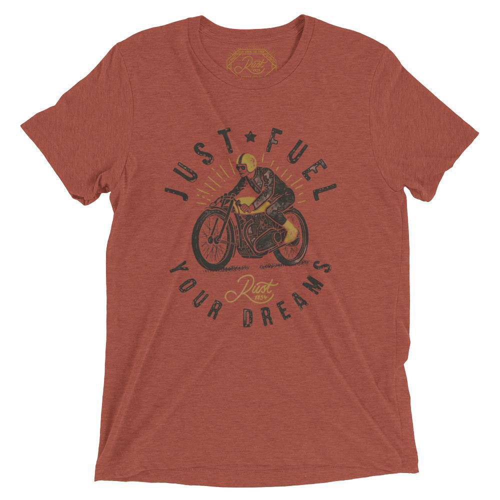 Just Fuel Your Dreams T-Shirt In Vintage Clay