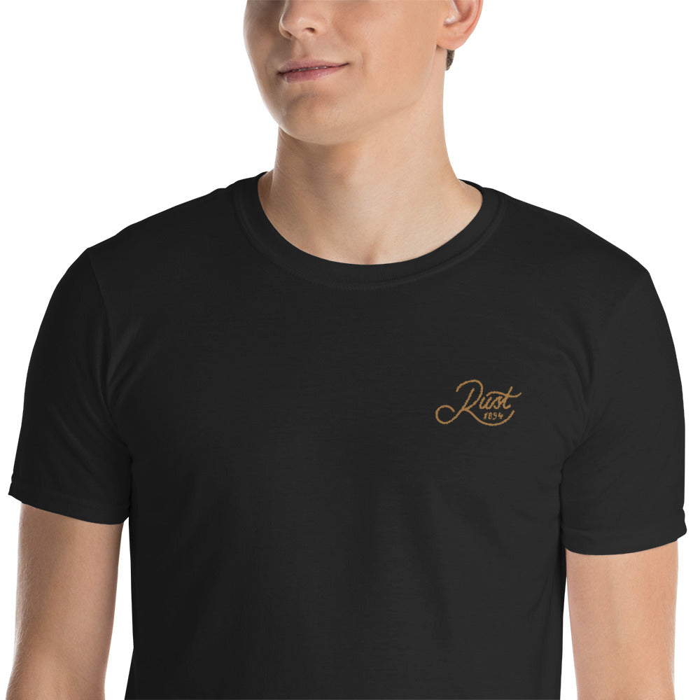 Rust 1894 Embroidered T-Shirt In Black