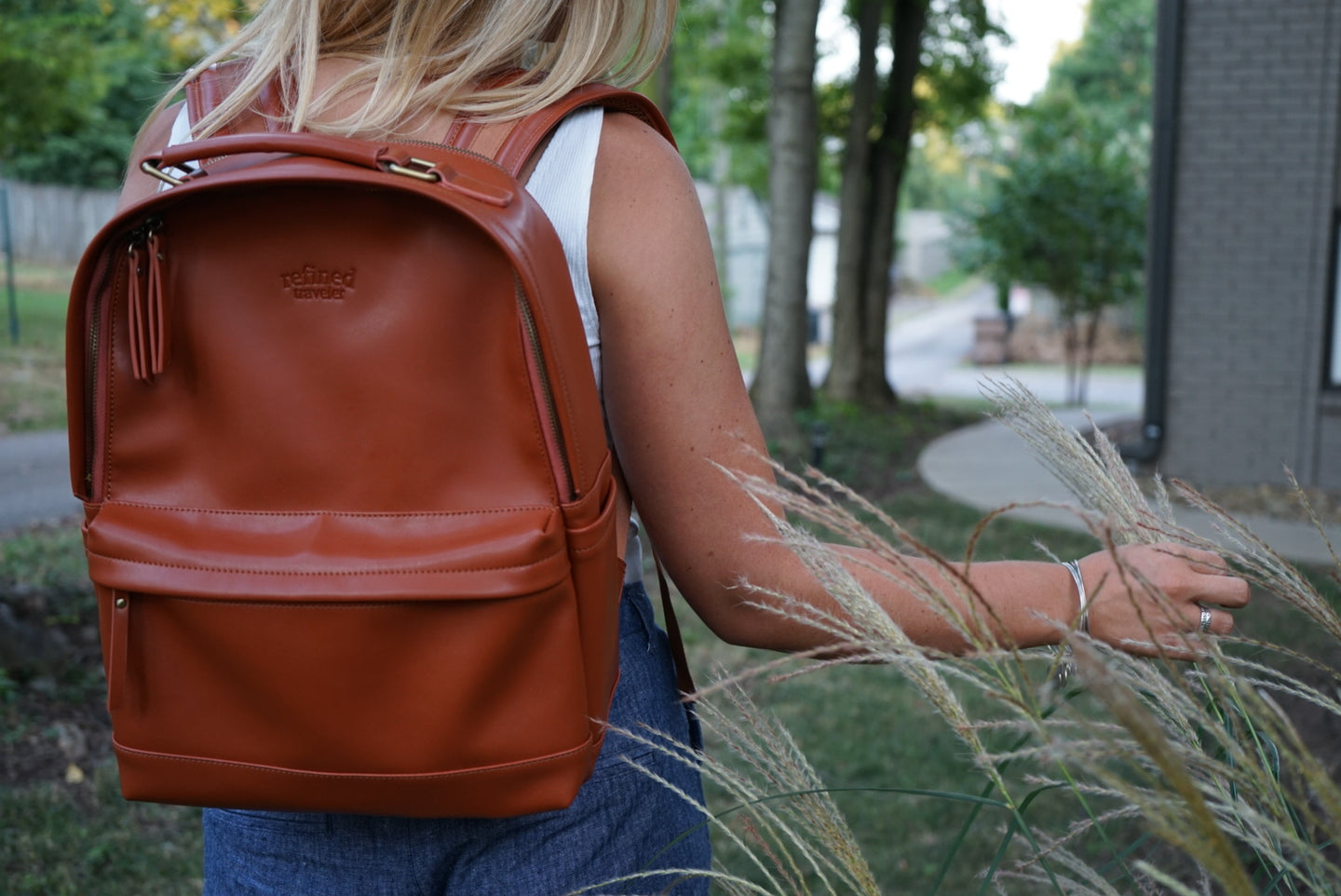 vegan leather backpack header image