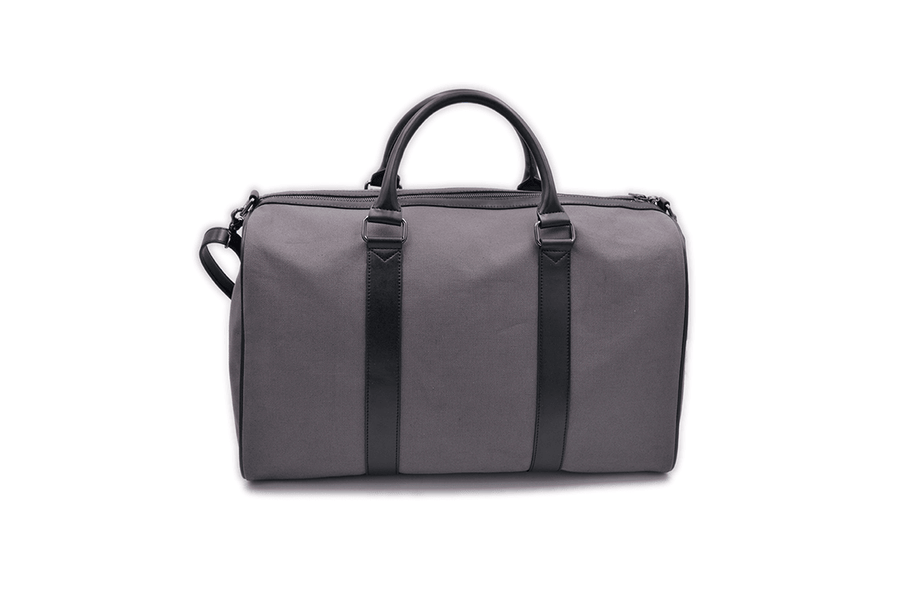 Back side view of vegan duffel bag by Refined Traveler
