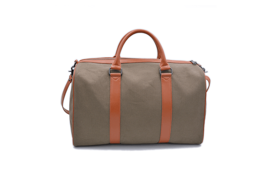 Back view of vegan duffel bag by Refined Traveler