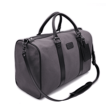 Full view of vegan duffel bag by Refined Traveler