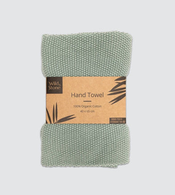 Wild & Stone HOME | CL 100% Organic Cotton Hand Towel - Moss Green