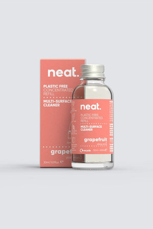 Neat. KITCHEN | CL 3x Plastic Free Grapefruit Multi-Surface Concentrated Refill Bundle