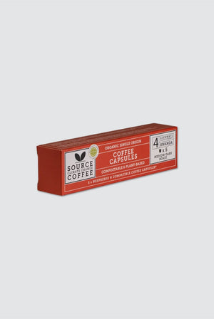 Source Climate Change Coffee GIFTING | CL 5 x Organic Biodegradable Nespresso® Capsules - Rwanda
