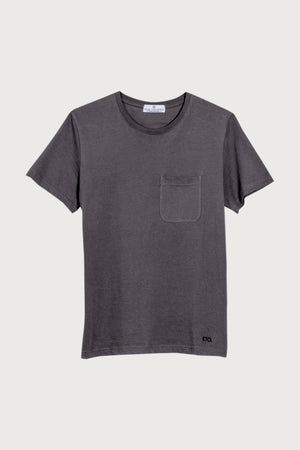 Know The Origin T-SHIRTS | Mens Agra Organic Cotton T-Shirt Charcoal Grey