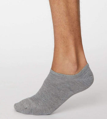 Thought UNDERWEAR & PYJAMAS | Mens One Size / Grey Ashley Bamboo Trainer Socks Grey
