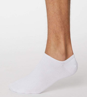 Thought UNDERWEAR & PYJAMAS | Mens One Size / White Ashley Bamboo Trainer Socks White