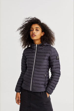 Atlantic Recycled Nylon Down Jacket Asphalt COATS & JACKETS | Womens ECOALF