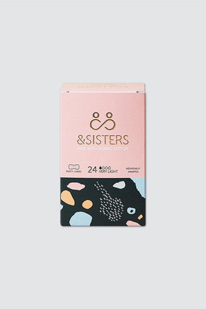&SISTERS BATHROOM | CL Biodegradable Organic Cotton Daily Liners (24 Pack)