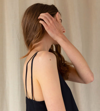 'Calling For Spring' Bamboo Viscose Cami Black TOPS | Womens ADVA