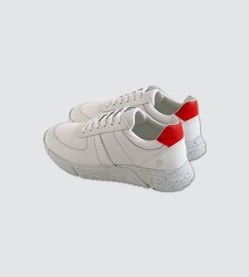 Humans Are Vain FOOTWEAR | Mens Challenge Vegan Leather Trainer White