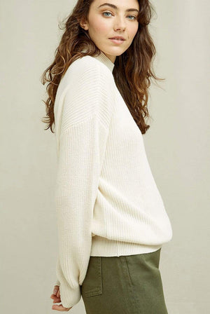 People Tree KNITWEAR | Womens Cody Organic Cotton Cream Jumper