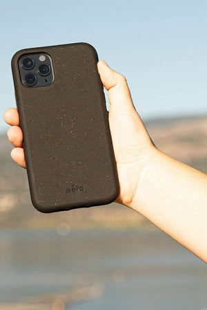 Pela HOME | CL black Compostable iPhone 11 Phone Case Black