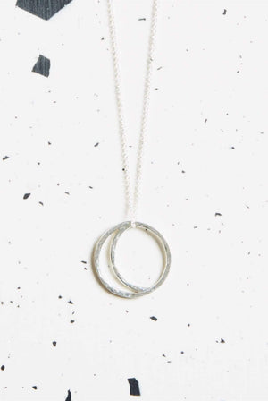 Kind ACCESSORIES | Womens Crescent Lune Pendant Necklace Silver