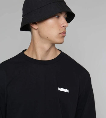 WAWWA ACCESSORIES | Mens Dry Waxed Organic Cotton Bucket Hat Black