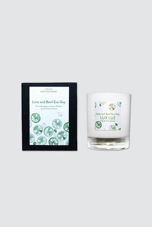Lux Luz HOME | CL Lime  Bas Eco-Soy Paraben-Free Social Candle - Lime And Basil