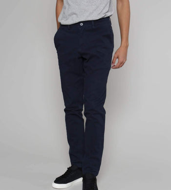 Thought TROUSERS & JEANS | Mens Emanuele Organic Cotton Navy Trousers