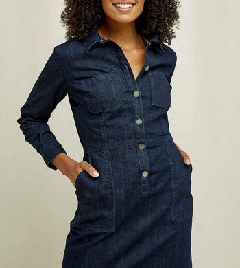 People Tree DRESSES & JUMPSUITS | Womens Emmanuele Organic Cotton Denim Dress