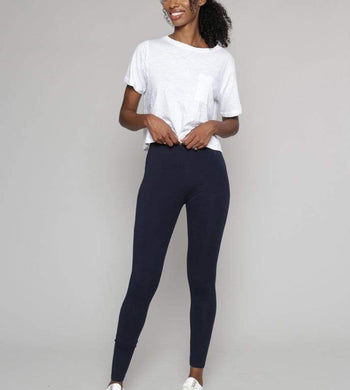People Tree ACTIVEWEAR & LOUNGEWEAR | Womens Essential Organic Cotton Navy Leggings