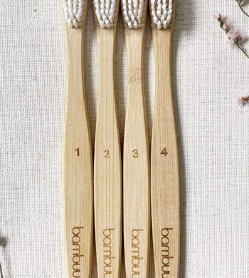 Madeeco BATHROOM | CL Family Pack of 4 Bamboo Toothbrushes