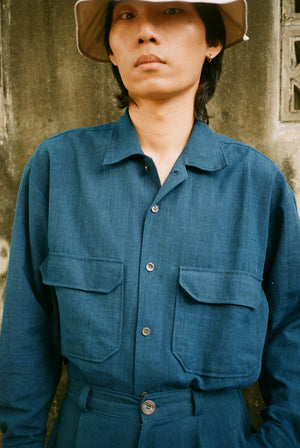 Field Handwoven Cotton Shirt Indigo SHIRTS | Mens Seeker X Retriever