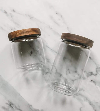Fresh Thinking Co HOME | CL Glass and Wood Pantry Storage Jars - Multi