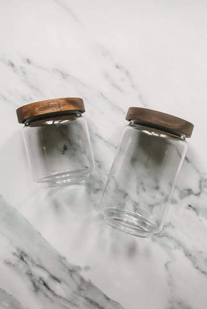 Fresh Thinking Co HOME | CL Glass and Wood Storage Jars