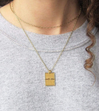 Mood Good ACCESSORIES | Womens Hug Necklace 18K Gold Vermeil