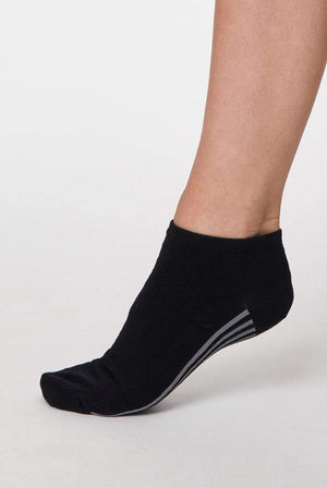 Thought LINGERIE & NIGHTWEAR | Womens 4-7 / Black Jane Bamboo Black Trainer Sock