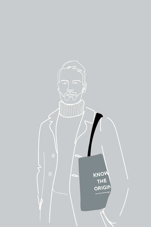 KTO X Freeset HOME | CL Greytote Know The Origin Organic and Fairtrade Cotton Grey Tote Bag