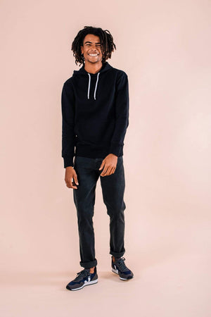 Know The Origin ACTIVEWEAR & LOUNGEWEAR | Mens Koel Organic Cotton Jumper Black