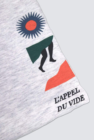 Idioma T-SHIRTS | Mens L'appel du Vide Organic Cotton T-Shirt Grey