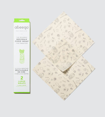 Abeego KITCHEN | CL Large Abeego Reusable Beeswax Food Wraps - 2 Pack
