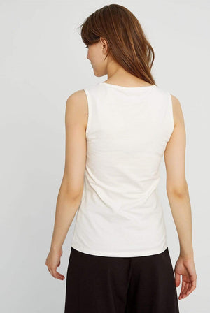 People Tree ACTIVEWEAR & LOUNGEWEAR | Womens Lizzie Organic Cotton White Vest