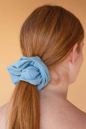 Hara ACCESSORIES | Womens OS / harapowderblue Malala Organic Bamboo Scrunchie Powder Blue