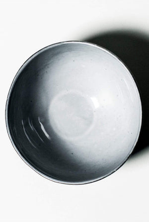 Nina+Co HOME | CL Matte Black Ceramic Bowl with Gloss White Glaze