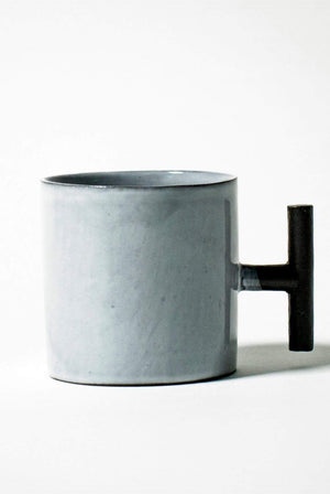 Nina+Co HOME | CL Matte Black Ceramic Mug with Gloss White Glaze